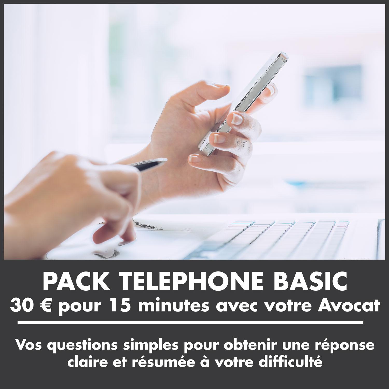 PACK TELEPHONE BASIC : 30 € pour 15 minutes avec votre Avocat. Avocat Nice