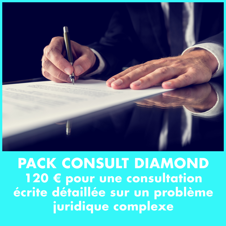 120 € pour une consultation écrite détaillée sur un problème juridique complexe